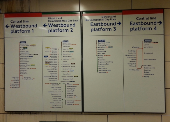 Mile End Tube guide